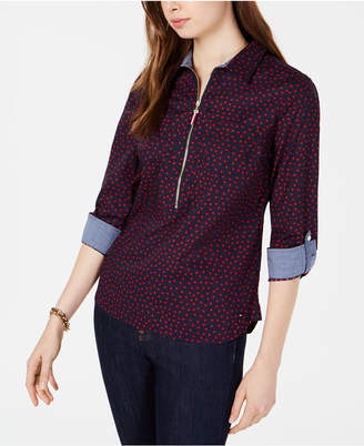 Tommy Hilfiger Cotton Printed Popover Shirt