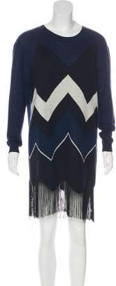 Timo Weiland Fringe-Accented Mini Dress