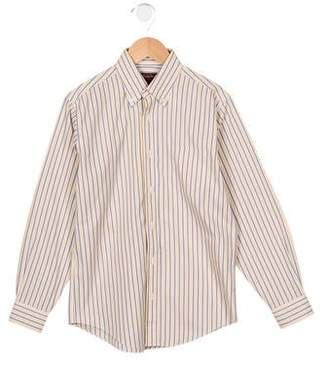 Brooks Brothers Boys' Striped Button-Up Shirt