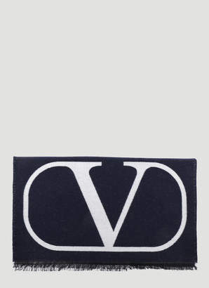 Valentino Wool Scarf in Blue