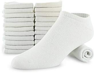 YNZ SPORTS SOCK Men's 12-pack Big & Tall Cotton No Show Athletic Low Cut Sock