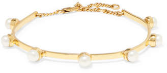 Cornelia Webb - Gold-plated Freshwater Pearl Anklet