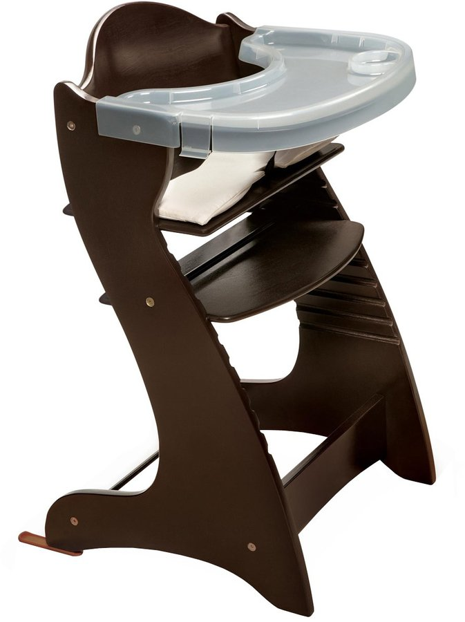 Badger Basket Badger Basket Embassy Wood High Chair with Tray - Espresso
