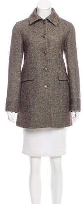 Loro Piana Virgin Wool Herringbone Coat