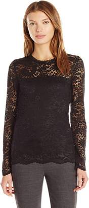 Vero Moda Women's Celeb Long Sleeve Lace Top