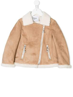 Dondup Kids faux shearling lined jacket