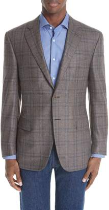 Canali Classic Fit Plaid Silk & Wool Sport Coat