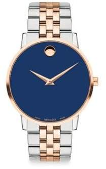Movado Museum Classic Stainless Steel Watch - Blue