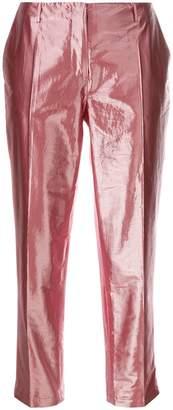 Aalto cropped metallic trousers