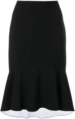 Elizabeth and James flounce hem midi-skirt