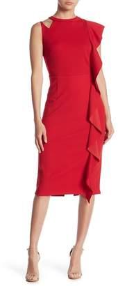 Marina Cascade Midi Sheath Dress