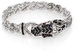 John Hardy Women's Naga Black Sapphire& Sterling Silver Dragon Braided Bracelet