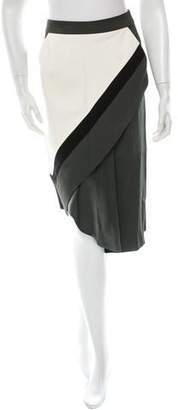 J. Mendel Colorblock Skirt