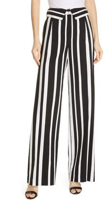 Alice + Olivia Geo Stripe Wide Leg Pants