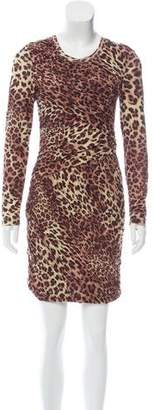 Torn By Ronny Kobo Leopard Print Pleated Dress