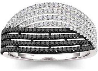 Imperial Diamond Imperial 1/2 Carat T.W. Diamond Sterling Silver Black And White Fashion Ring