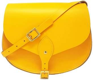 N'Damus London - Alexandra Yellow Leather Saddle Bag