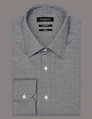 Marks and Spencer Supima® Cotton Rich Tailored Fit Shirt