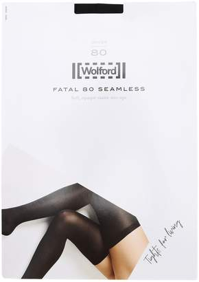 Wolford FATAL OPAQUE NYLON STAY-UP STOCKINGS