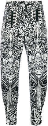 Just Cavalli floral print trousers
