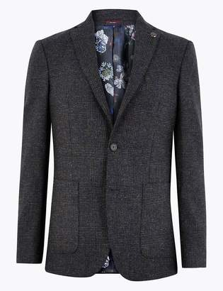 Marks and Spencer Pure Wool Prince of Wales Checked Jacket