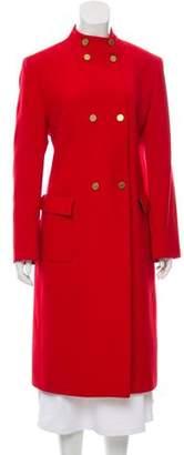 Valentino Red Long Virgin Wool-Blend Coat