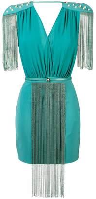Elisabetta Franchi chain trim mini dress