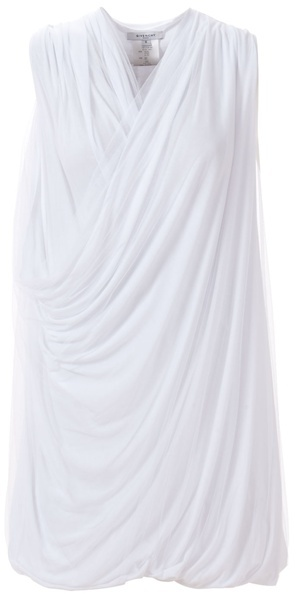 GIVENCHY - Draped etheral jersey tulle dress