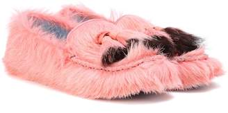 Prada Calf hair loafers