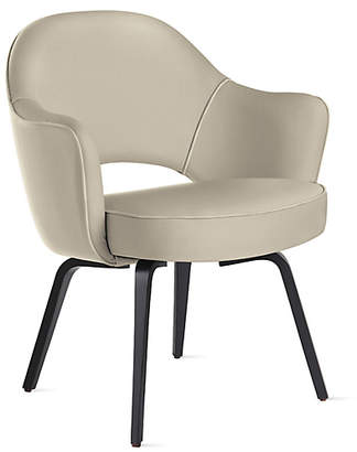 Design Within Reach Knoll Saarinen Executive Armchair with Wood Legs, Tan at DWR