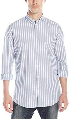Zanerobe Men's Stripe Rugger Long Sleeve Button Down Shirt
