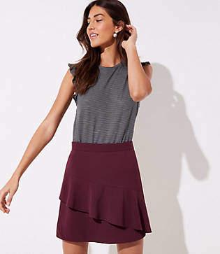 LOFT Asymmetrical Flippy Skirt