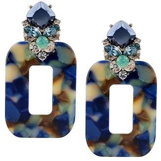 Jardin Stone Cluster Square Drop Earrings