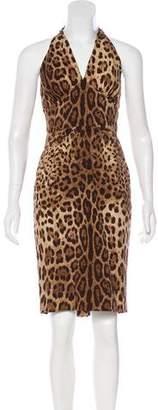 Dolce & Gabbana Leopard Print Halter Dress