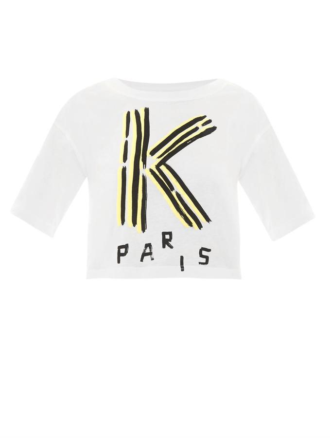 Kenzo Logo-print cropped T-shirt