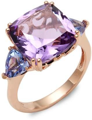 Effy 14K Rose Gold, Amethyst & Tanzanite Ring