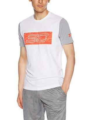 Under Armour (アンダー アーマー) - [アンダーアーマー] SC30 ロゴショートスリーブTシャツ(バスケットボール/Tシャツ) 1317938 メンズ WHT/RDR/RDR 日本 SM (日本サイズS相当)