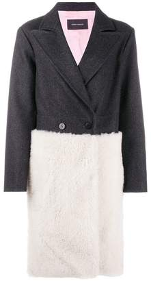 Cédric Charlier panelled single breasted coat