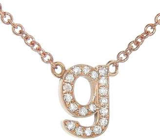 Jennifer Meyer Lowercase Diamond Initial Necklace - Rose Gold