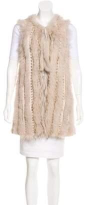 Cassin Fur-Trimmed Wool Vest