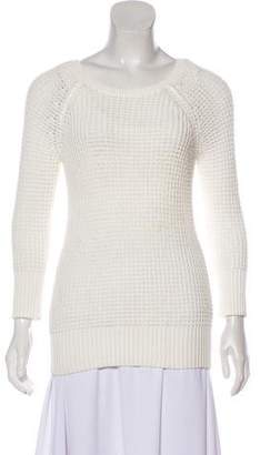 Diane von Furstenberg Open Knit Crew Neck Sweater
