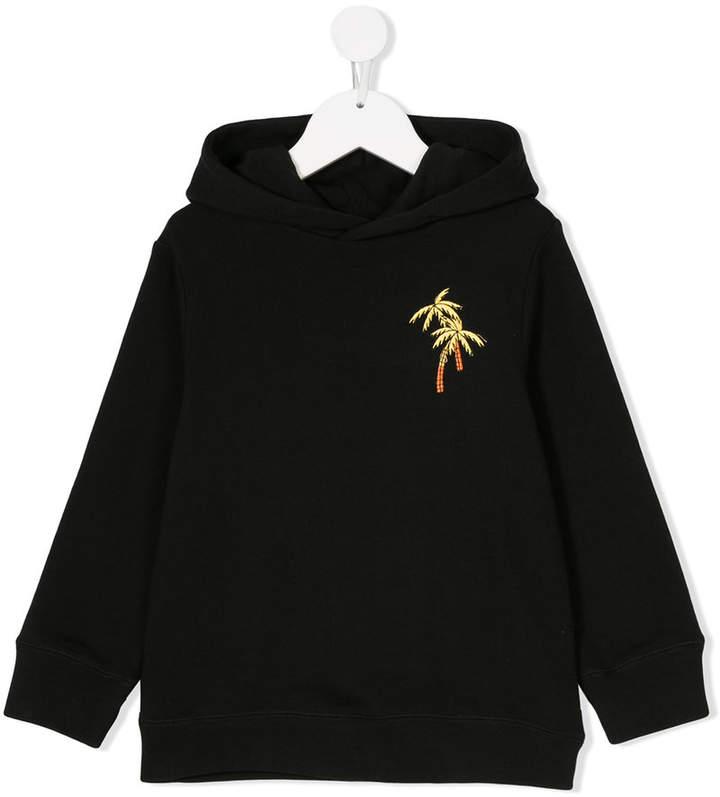 palm motif hoodie