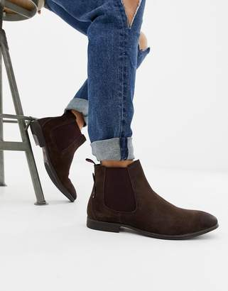 Ben Sherman Suede Chelsea Boot in Brown