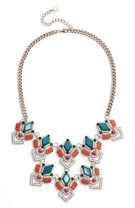 Adia Kibur Stone & Crystal Statement Necklace