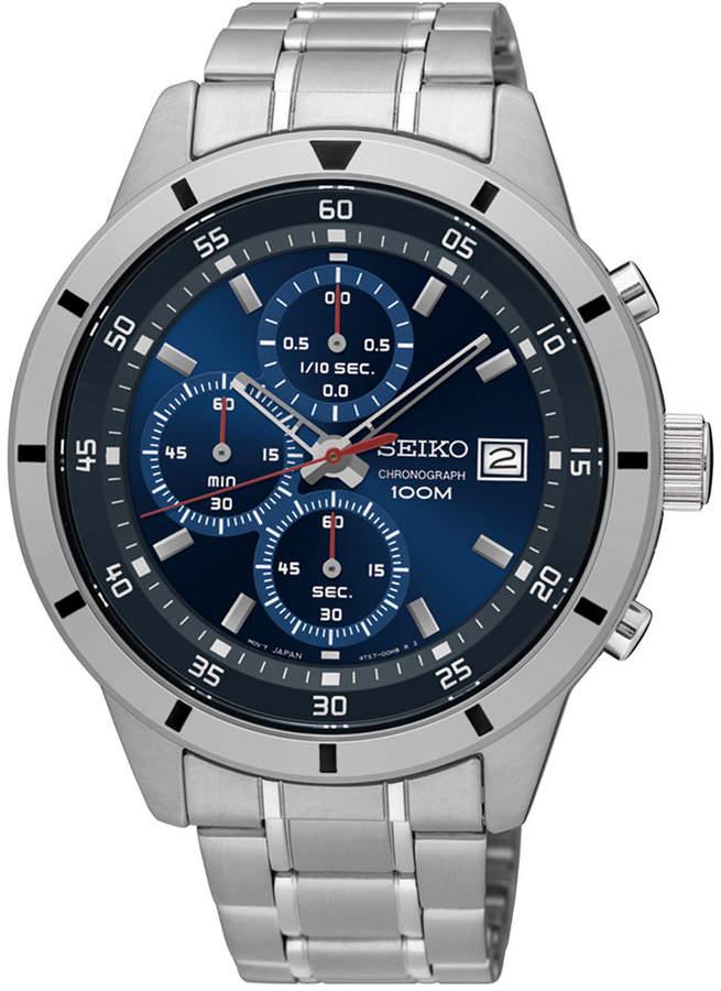 SeikoSeiko Men's Special Value Chronograph Stainless Steel Bracelet Watch 44mm SKS559