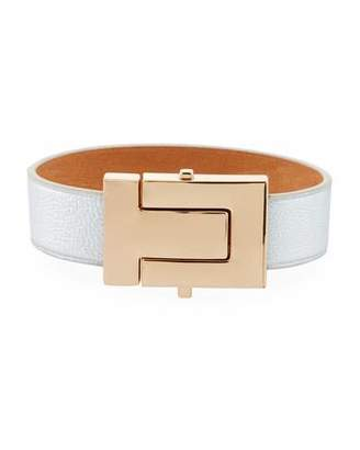 Tory Burch T-Lock Leather Bracelet