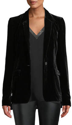 Lafayette 148 New York Lyndon Classic Velvet Jacket