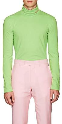 Calvin Klein Men's Logo Cotton Turtleneck T-Shirt - Lt. Green