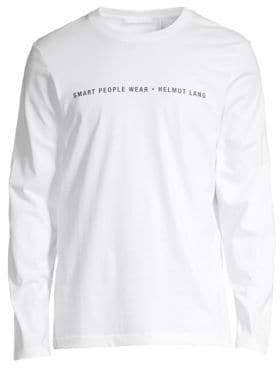 Helmut Lang Smart People Cotton Long Sleeve Tee