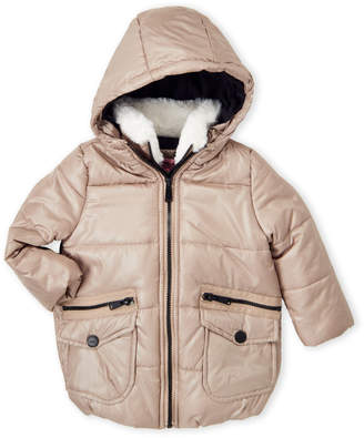 Urban Republic Toddler Girls) Faux Fur Trim Puffer Coat